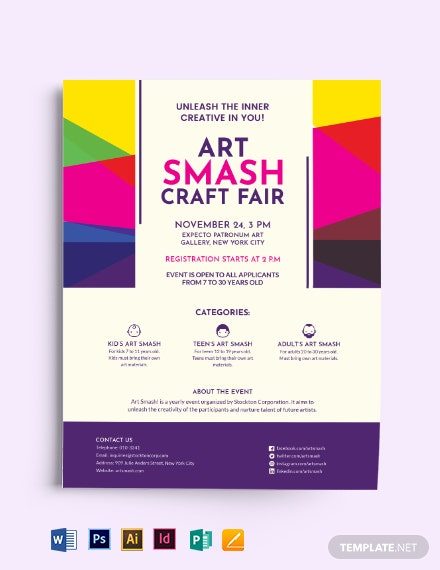 arts craft fair flyer template