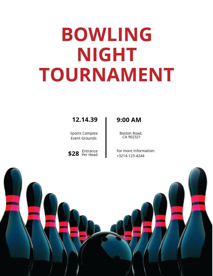 Bowling Tournament Flyer Template.jpe