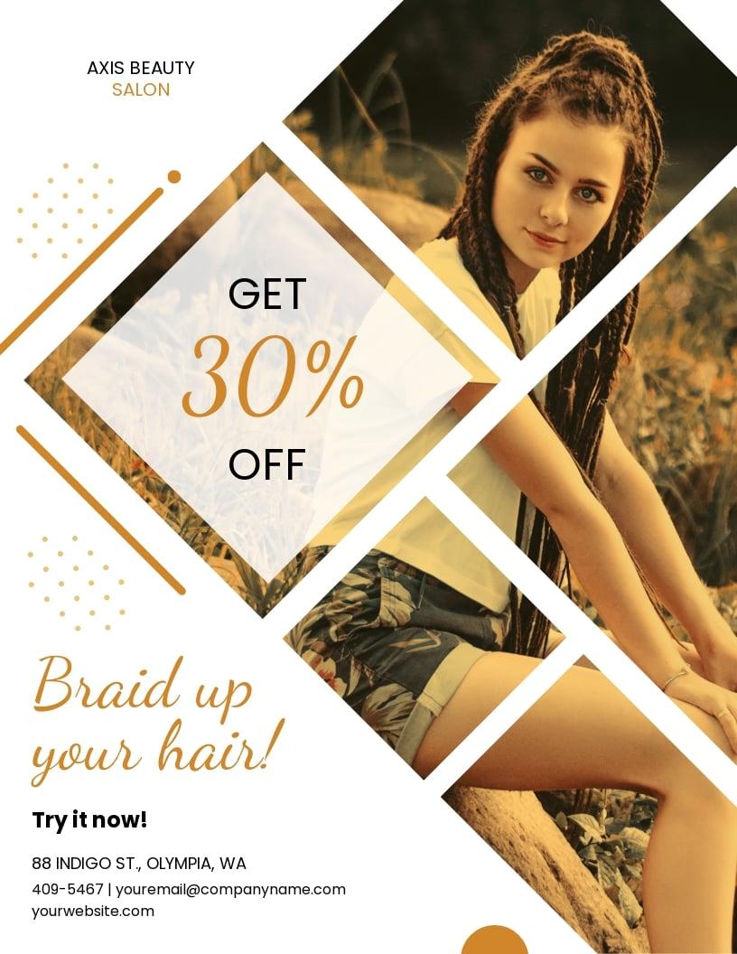 Braids Hair Salon Flyer Template