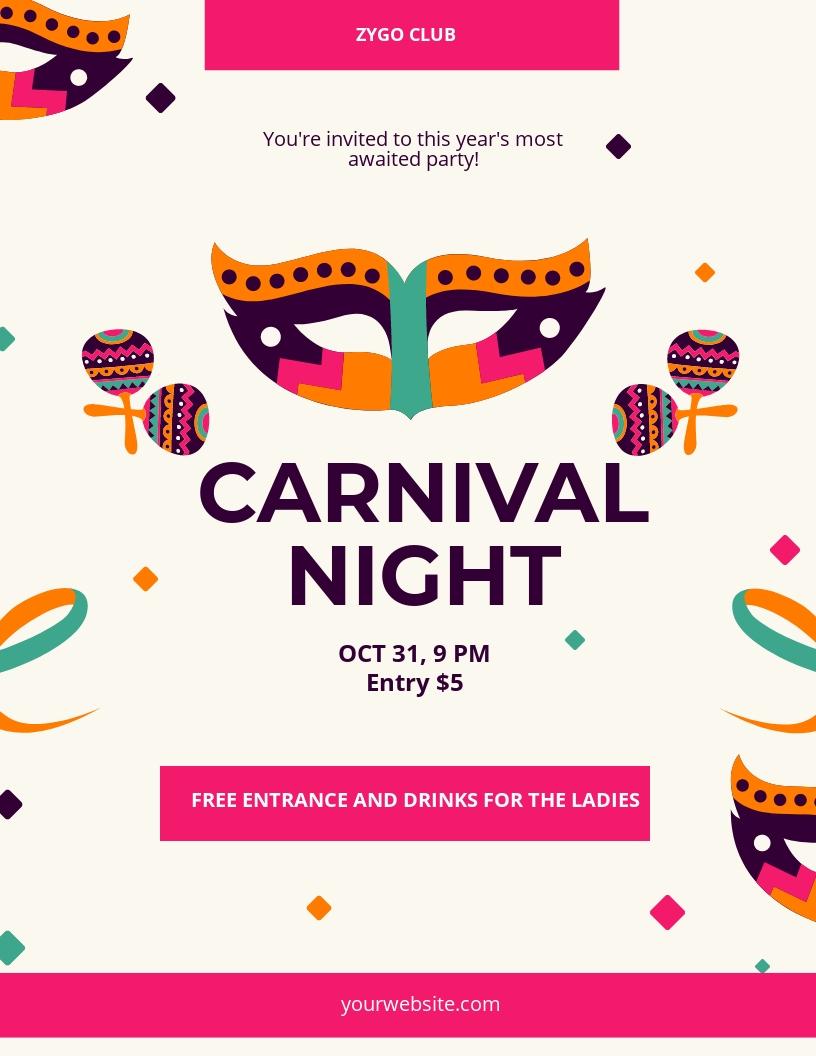 Carnival Celebration Flyer Template.jpe