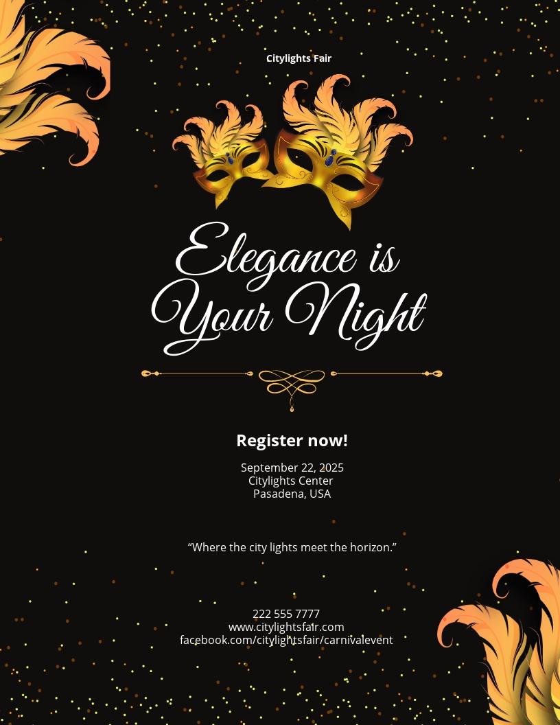 Carnival Elegant Flyer Template