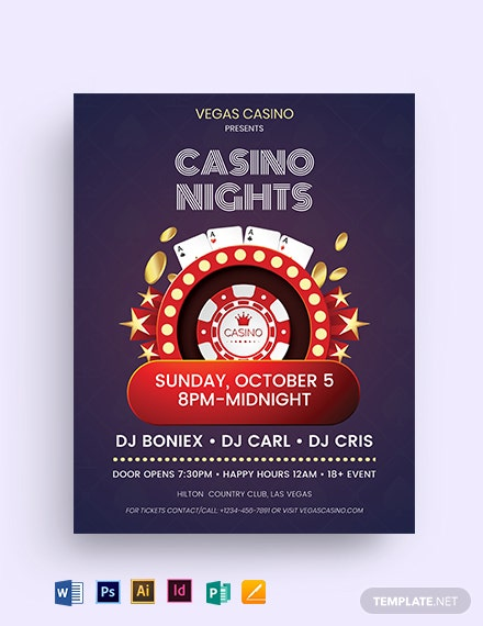 casino ad flyer