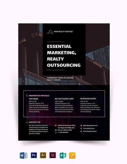 Modern Real Estate Marketing Flyer Template