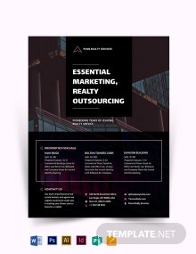 Modern Real Estate Marketing Flyer Template