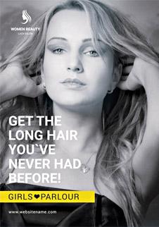 Free Beauty Parlor A3 Bifold Brochure Template