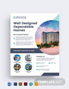 Personal Real Estate Agent Agency Flyer Template
