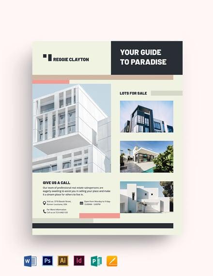 Professional Real Estate Broker Flyer
