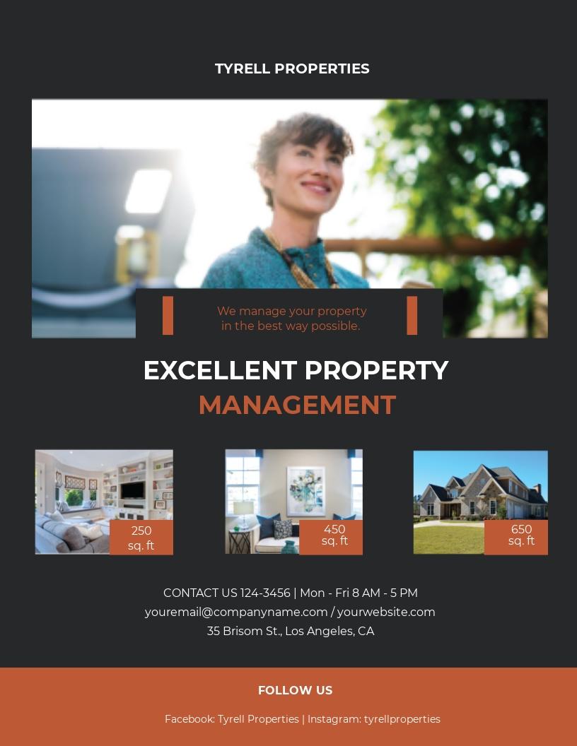 Property Management Maintenance Flyer Template
