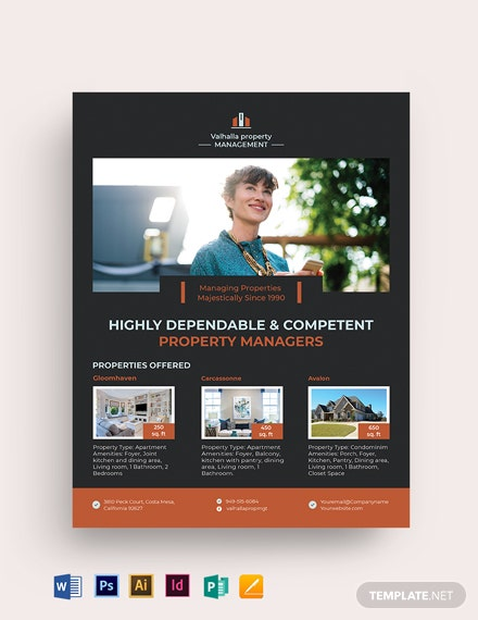 Property Management Maintenance Flyer Template