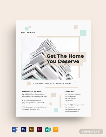 Realestate Mortgage Company Flyer Template