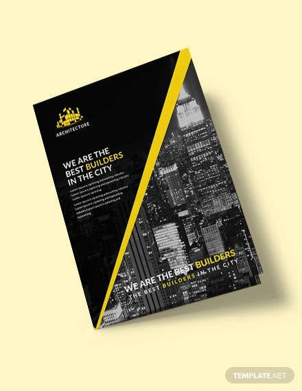 Free Construction Bi-Fold Brochure Template