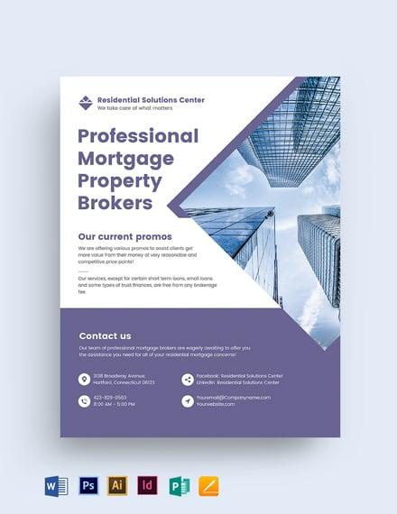 Residential Mortgage Broker Flyer Template