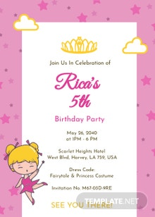 2 Sided Invitation Card Template