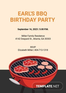 30th Birthday BBQ Invitation Template