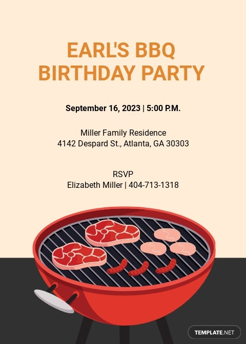 30th Birthday BBQ Invitation Template