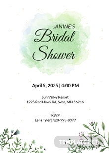 Abstract Bridal Shower Invitation template