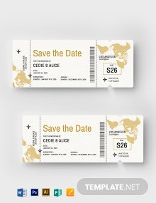 Airline Boarding Pass Invitation Template