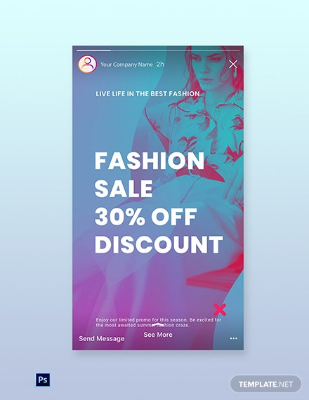 Free Fashion Products Sale Instagram Story Template