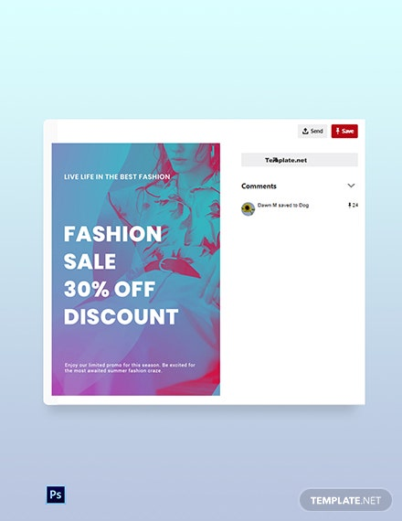 Free Fashion Products Sale Pinterest Pin Template