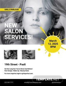 Free Beauty Parlor Flyer Template