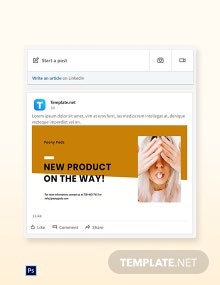 Simple Fashion Sale LinkedIn Blog Post Template