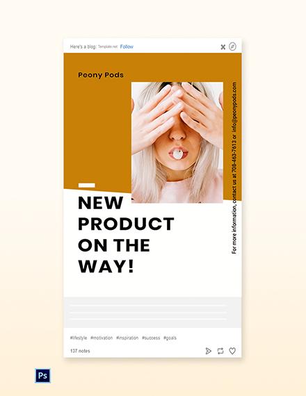 Free Simple Fashion Sale Tumblr Post Template