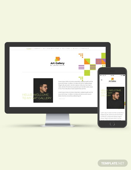 Art Gallery WordPress ThemeTemplate Download