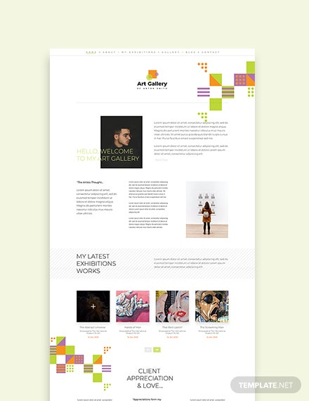 Sample Art Gallery WordPress ThemeTemplate