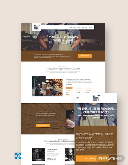 Carpenter WordPress Theme/Template