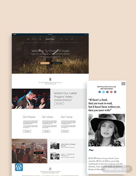 Church WordPress Theme/Template