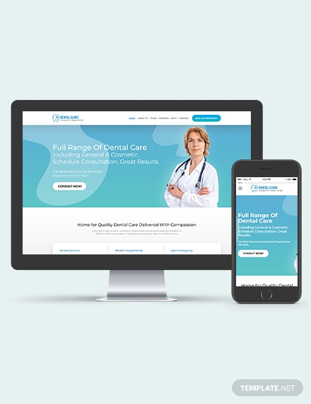 Dentist Dental Clinic WordPress ThemeTemplate Download