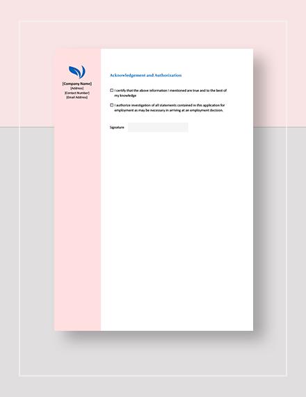 Basic Employment Application Form Download