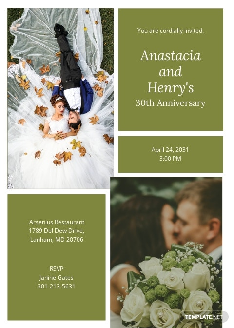 Anniversary Collage Invitation Template