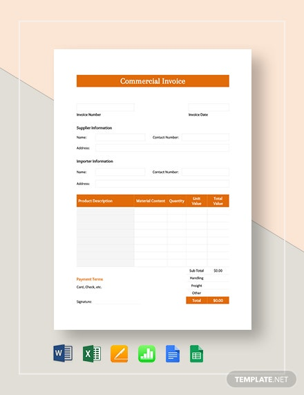 Simple Commercial Invoice