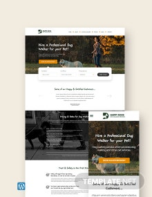 Dog Walker WordPress Theme/Template