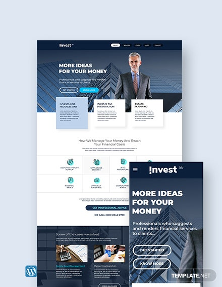 Financial Advisor WordPress Theme/Template