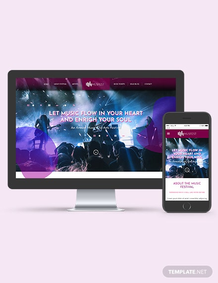 Music Festival WordPress ThemeTemplate Download
