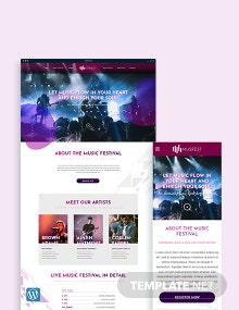 Music Festival WordPress Theme/Template