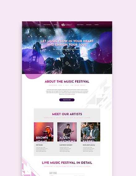Sample Music Festival WordPress ThemeTemplate