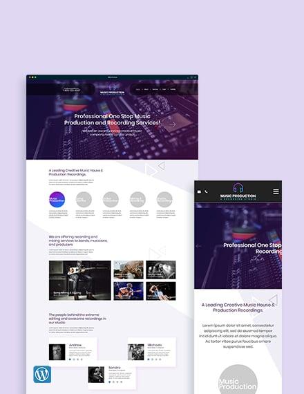 Music Production WordPress Theme/Template