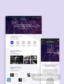 Music Production WordPress Theme/Template