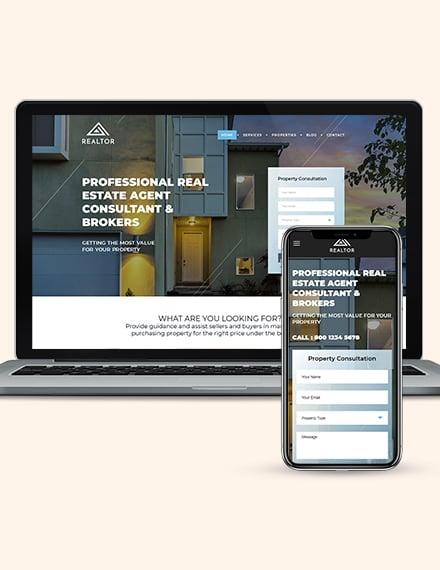 Real Estate Agent Realtor WordPress ThemeTemplate Download