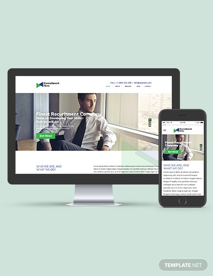 Recruitment Firm WordPress ThemeTemplate Download