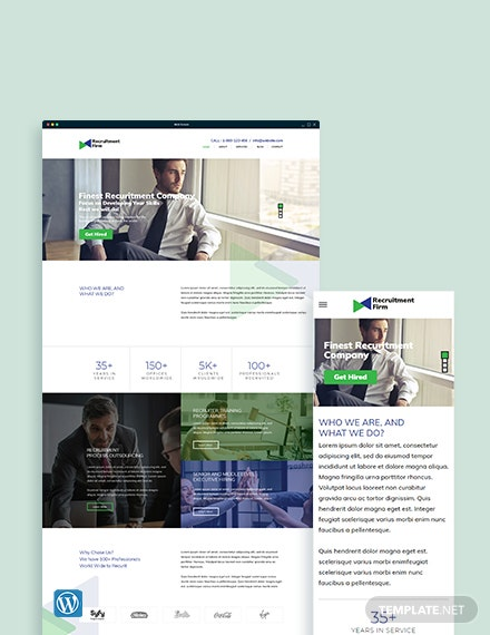 Recruitment Firm WordPress ThemeTemplate