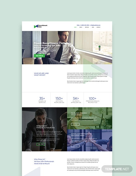 Sample Recruitment Firm WordPress ThemeTemplate