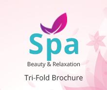 Free Spa Tri-Fold Brochure Template