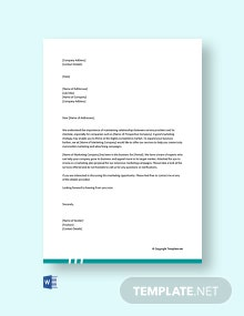 Free Marketing Letter for Services