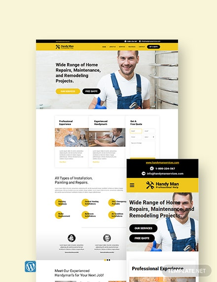 Handy Man WordPress Theme/Template