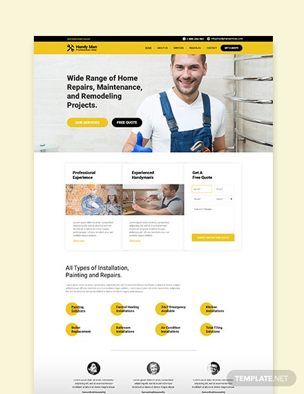 Sample Handy Man WordPress ThemeTemplate