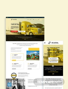 Moving Company WordPress Theme/Template